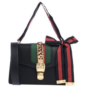 New Gucci Small Sylvie Leather Shoulder Bag